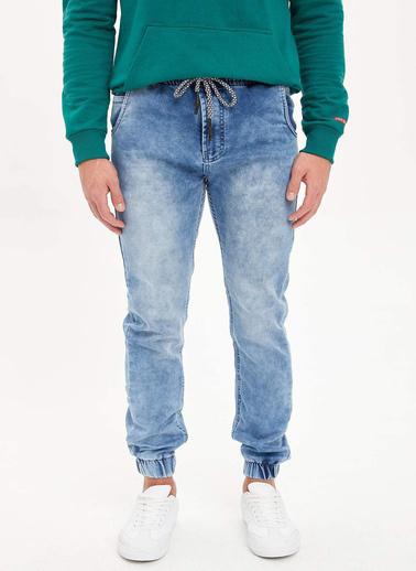 DeFacto Slim Fit Jean Jogger Pantolon Mavi